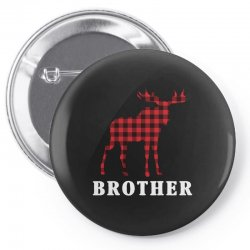reindeer christmas family brother Pin-back button | Artistshot