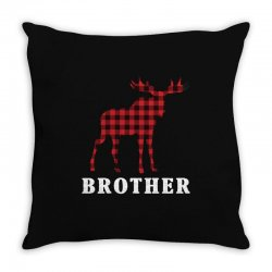reindeer christmas family brother Throw Pillow | Artistshot