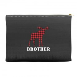reindeer christmas family brother Accessory Pouches | Artistshot