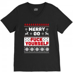 elf merry go fuck your elf ugly christmas sweater V-Neck Tee | Artistshot