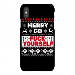 elf merry go fuck your elf ugly christmas sweater iPhoneX Case | Artistshot