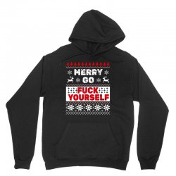 elf merry go fuck your elf ugly christmas sweater Unisex Hoodie | Artistshot