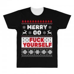 elf merry go fuck your elf ugly christmas sweater All Over Men's T-shirt | Artistshot