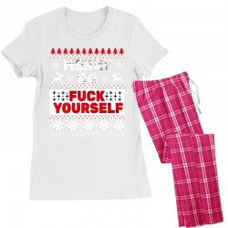 elf merry go fuck your elf ugly christmas sweater Women's Pajamas Set | Artistshot