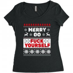 elf merry go fuck your elf ugly christmas sweater Women's Triblend Scoop T-shirt | Artistshot