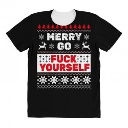 elf merry go fuck your elf ugly christmas sweater All Over Women's T-shirt | Artistshot