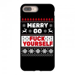 elf merry go fuck your elf ugly christmas sweater iPhone 8 Plus Case | Artistshot