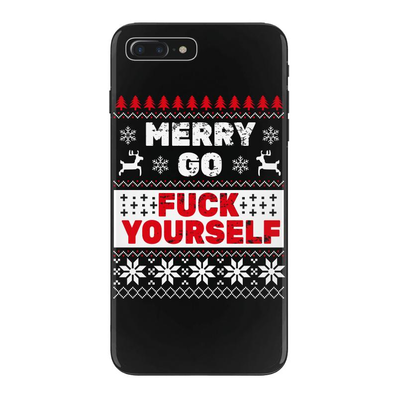 Elf Merry Go Fuck Your Elf Ugly Christmas Sweater Iphone 7 Plus Case | Artistshot