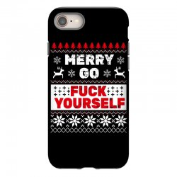 elf merry go fuck your elf ugly christmas sweater iPhone 8 Case | Artistshot