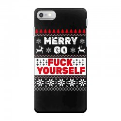 elf merry go fuck your elf ugly christmas sweater iPhone 7 Case | Artistshot