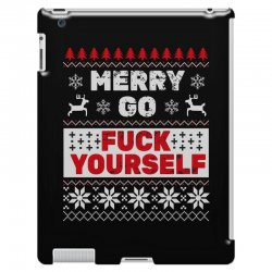 elf merry go fuck your elf ugly christmas sweater iPad 3 and 4 Case | Artistshot