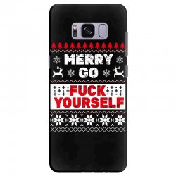 elf merry go fuck your elf ugly christmas sweater Samsung Galaxy S8 Plus Case | Artistshot