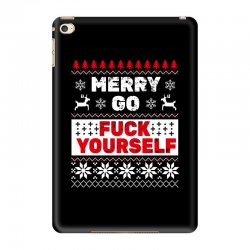 elf merry go fuck your elf ugly christmas sweater iPad Mini 4 Case | Artistshot