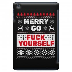 elf merry go fuck your elf ugly christmas sweater iPad Mini Case | Artistshot