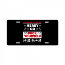 elf merry go fuck your elf ugly christmas sweater License Plate | Artistshot