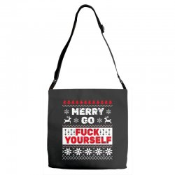 elf merry go fuck your elf ugly christmas sweater Adjustable Strap Totes | Artistshot