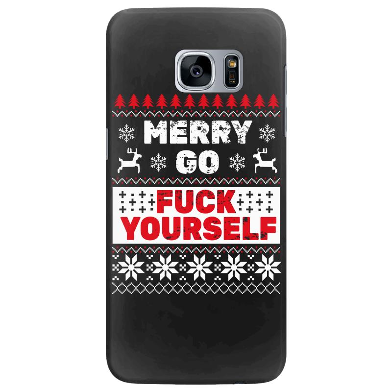 Elf Merry Go Fuck Your Elf Ugly Christmas Sweater Samsung Galaxy S7 Edge Case | Artistshot