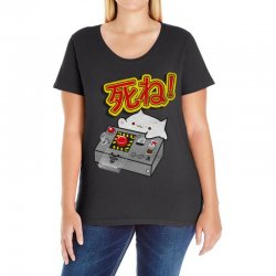 doomsday cat Ladies Curvy T-Shirt | Artistshot