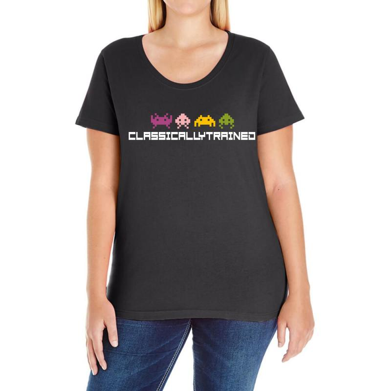 Classically Trained   80s Video Games Ladies Curvy T-shirt | Artistshot