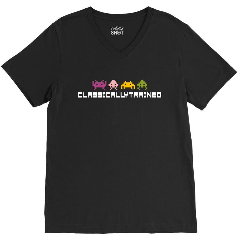 Classically Trained   80s Video Games V-neck Tee | Artistshot