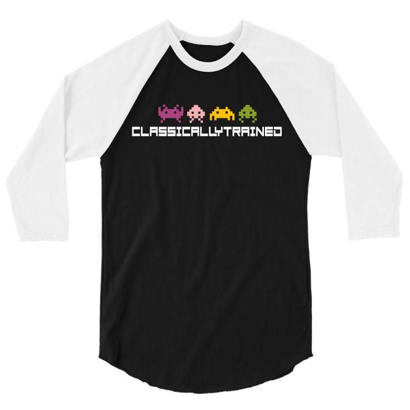 Classically Trained   80s Video Games 3/4 Sleeve Shirt | Artistshot