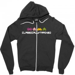 classically trained   80s video games Zipper Hoodie | Artistshot