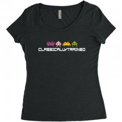 classically trained   80s video games Women's Triblend Scoop T-shirt | Artistshot