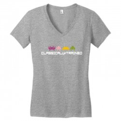 classically trained   80s video games Women's V-Neck T-Shirt | Artistshot