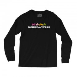 classically trained   80s video games Long Sleeve Shirts | Artistshot