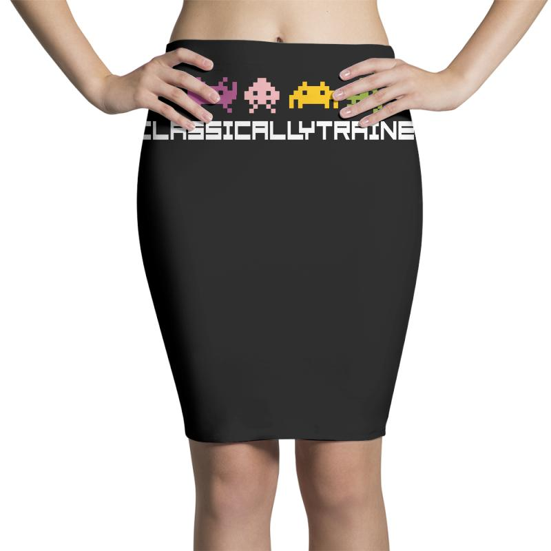 Classically Trained   80s Video Games Pencil Skirts | Artistshot