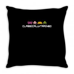 classically trained   80s video games Throw Pillow | Artistshot