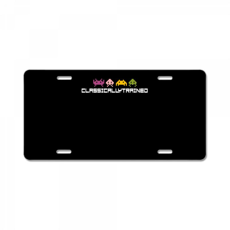Classically Trained   80s Video Games License Plate | Artistshot