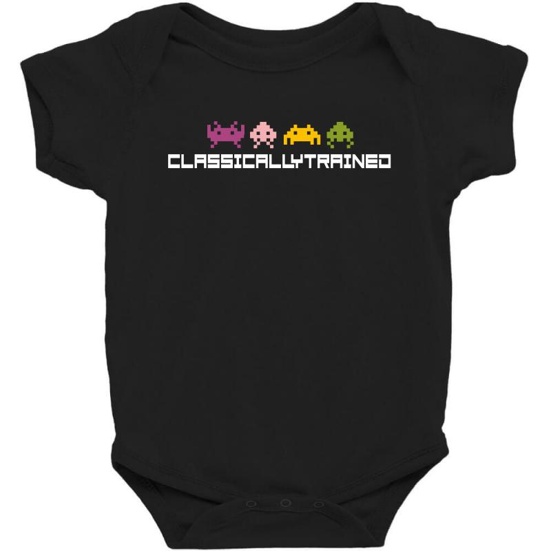 Classically Trained   80s Video Games Baby Bodysuit | Artistshot