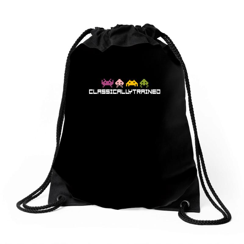 Classically Trained   80s Video Games Drawstring Bags | Artistshot