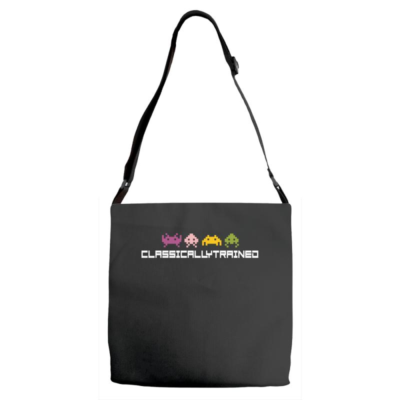 Classically Trained   80s Video Games Adjustable Strap Totes | Artistshot