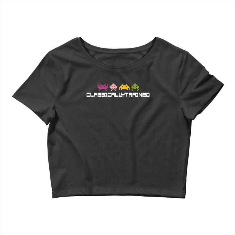 Classically Trained   80s Video Games Crop Top | Artistshot