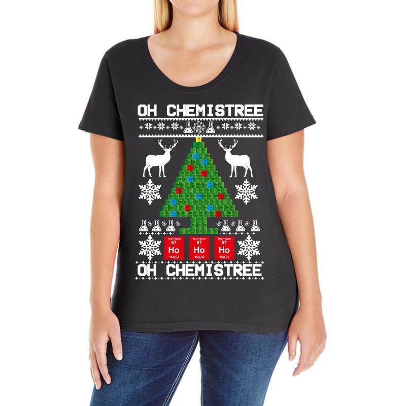Chemist Element Oh Chemistree Christmas Sweater Ladies Curvy T-shirt | Artistshot