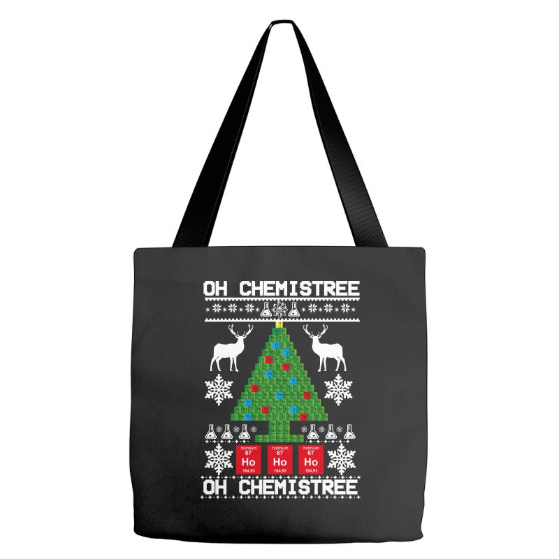 Chemist Element Oh Chemistree Christmas Sweater Tote Bags | Artistshot