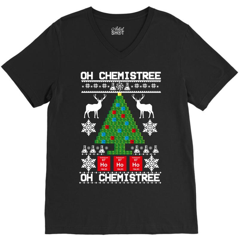 Chemist Element Oh Chemistree Christmas Sweater V-neck Tee | Artistshot