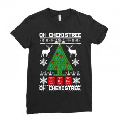 chemist element oh chemistree christmas sweater Ladies Fitted T-Shirt | Artistshot