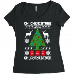 chemist element oh chemistree christmas sweater Women's Triblend Scoop T-shirt | Artistshot