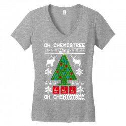 chemist element oh chemistree christmas sweater Women's V-Neck T-Shirt | Artistshot