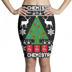 chemist element oh chemistree christmas sweater Pencil Skirts | Artistshot