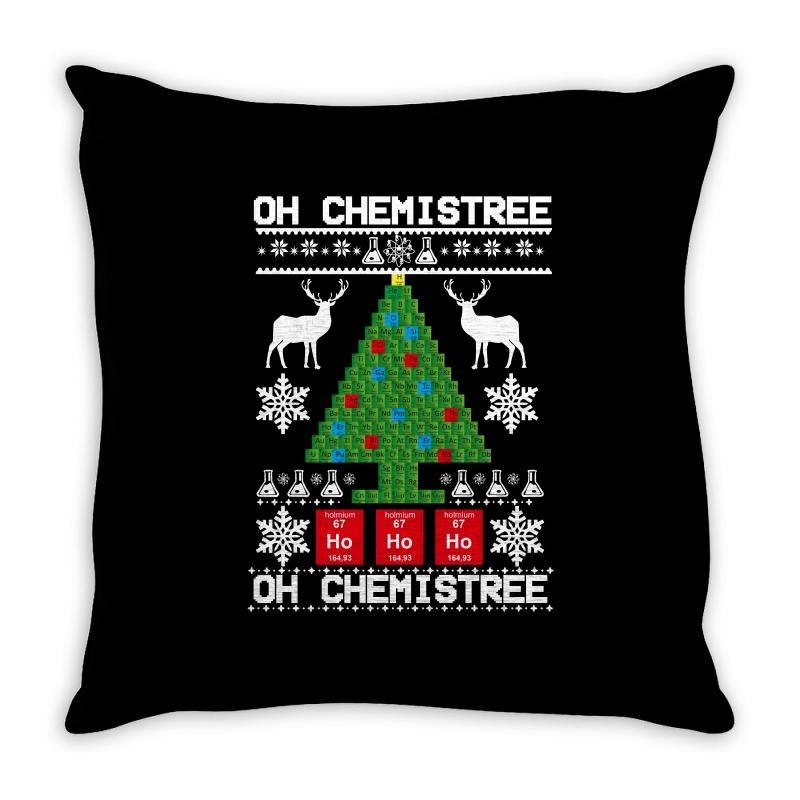 Chemist Element Oh Chemistree Christmas Sweater Throw Pillow | Artistshot