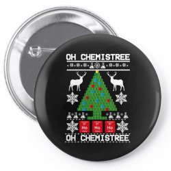 chemist element oh chemistree christmas sweater Pin-back button | Artistshot