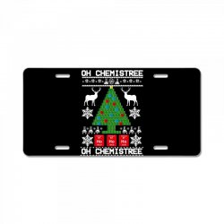 chemist element oh chemistree christmas sweater License Plate | Artistshot