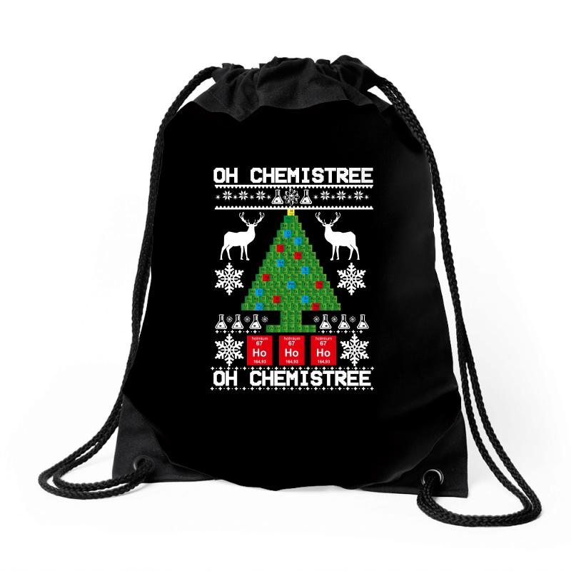 Chemist Element Oh Chemistree Christmas Sweater Drawstring Bags | Artistshot