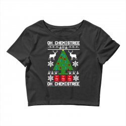 chemist element oh chemistree christmas sweater Crop Top | Artistshot