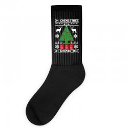 chemist element oh chemistree christmas sweater Socks | Artistshot