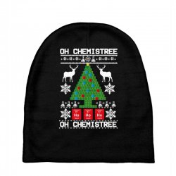 chemist element oh chemistree christmas sweater Baby Beanies | Artistshot